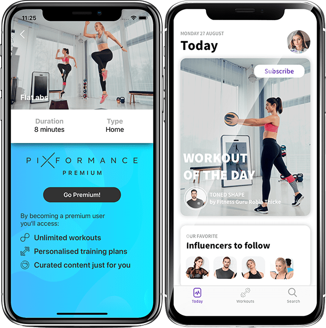 Functional Training Influencer App | Pixformance Sports