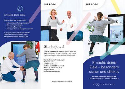 Flyer Pixformance Physiotherapie