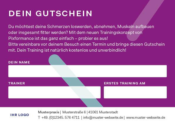 Gutschein Pixformance Fitness