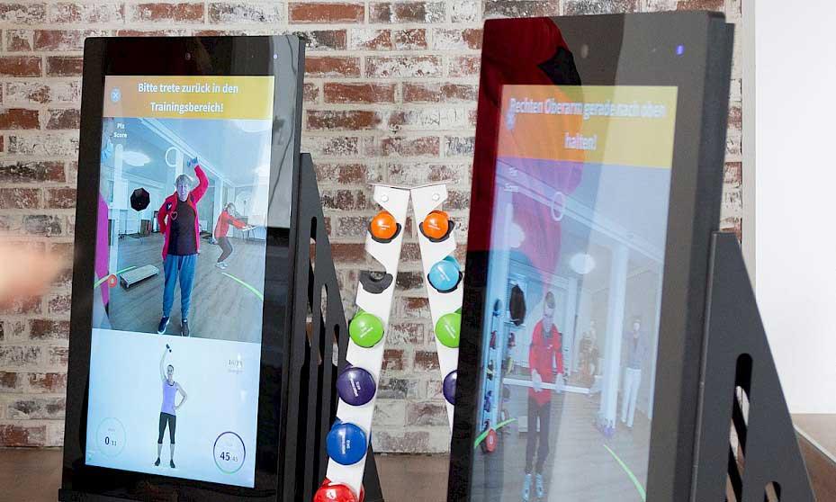 Zwei digitale Pixformance Trainingsstationen mit visuellem Echtzeit-Feedback